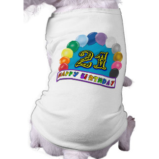 21st Birthday Gifts with Assorted Balloons Design Tee