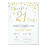 21st Birthday Gold Glitter Diamond Invitation