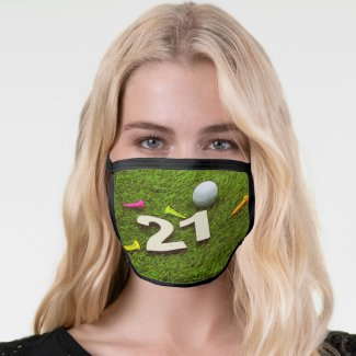 21st birthday golfer All-Over Print Face Mask