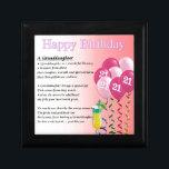"21st Birthday Granddaughter Poem Keepsake Box<br><div class=""desc"">A great gift for a granddaughter on her 21st birthday</div>"