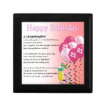 21st Birthday Granddaughter Poem Keepsake Box