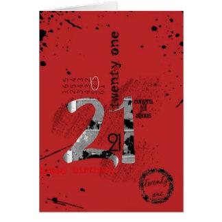 21st birthday greeting card