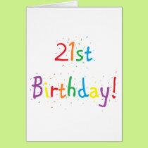 """21st Birthday"" Greeting Card"