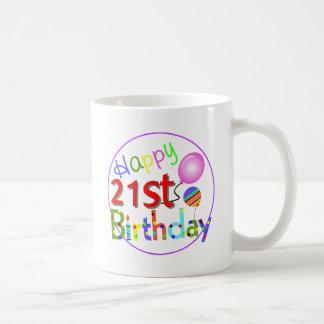 21st birthday greetings coffee mug
