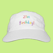 """21st Birthday"" Hat"