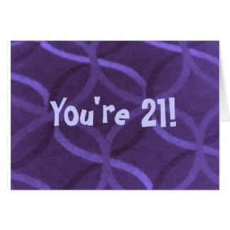 21st Birthday-Humor-Greeting Card