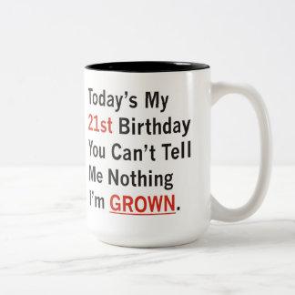 21st Birthday I'm Grown Two-Tone Coffee Mug