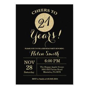 21st Birthday Invitations Zazzle