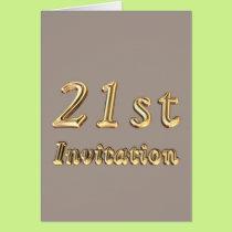 21st Birthday invitation twenty one  twenty first