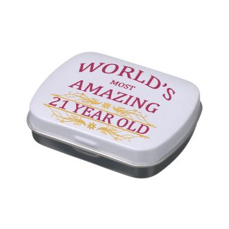21st Birthday Jelly Belly Candy Tins