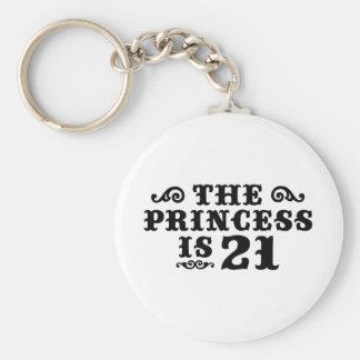 21st Birthday Keychains