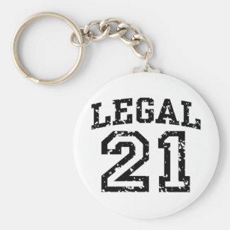 21st Birthday Keychain