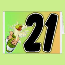 21st Birthday merchandise Card