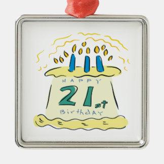 21st Birthday Metal Ornament