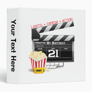 21st Birthday Movie Party Binder