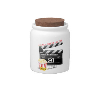 21st Birthday Movie Party Candy Jars