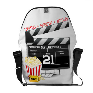 21st Birthday Movie Party Messenger Bags