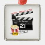 21st Birthday Movie Party Ornaments
