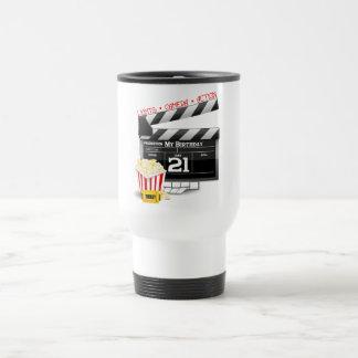 21st Birthday Movie Party Travel Mug