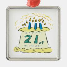 21st Birthday Ornament