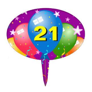 21st Birthday Party Age Custom Oval Cake Pick