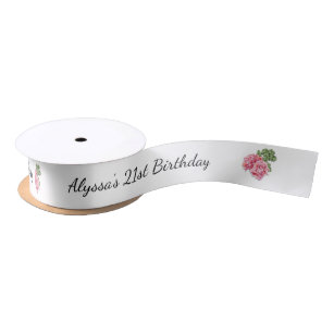 21st Birthday Party Favor Ribbon
