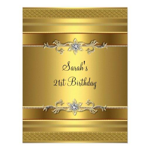 Personalized 21st birthday Invitations CustomInvitations4Ucom