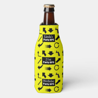 21st Birthday Party GPS Bottle Cooler