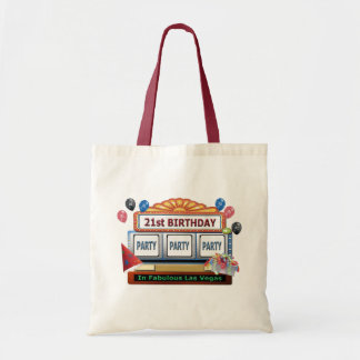 21st BIRTHDAY Party In Las Vegas Tote Bag