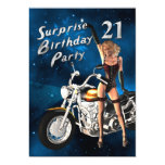 "21st Birthday party Invitation 5"" X 7"" Invitation Card"
