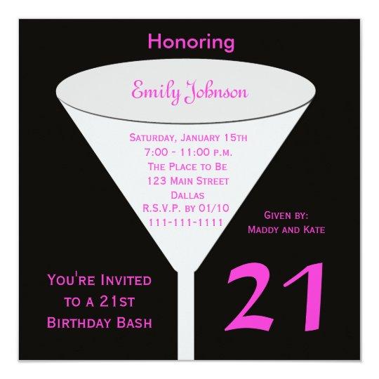 21st Birthday Party Invitation 21st Birthday Bash