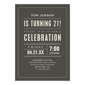 Guys 21st Birthday Invitations & Announcements | Zazzle