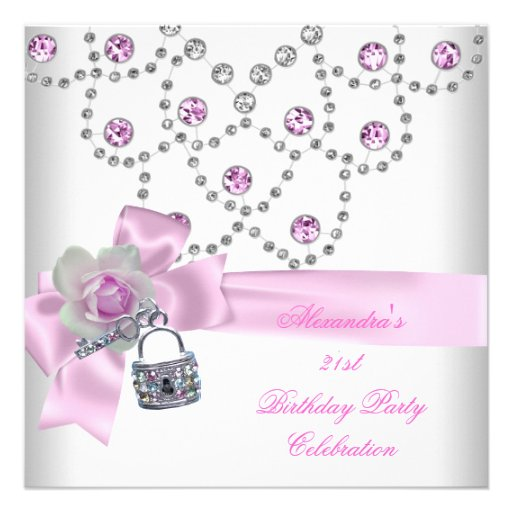 Personalized Girls 21st birthday party Invitations