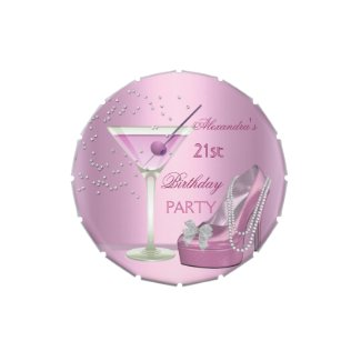 21st Birthday Party Pink Martini High Heel Favor