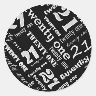 21st Birthday Party Sticker
