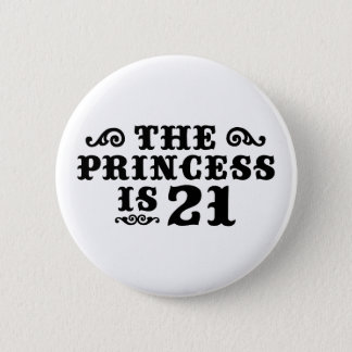 21st Birthday Pinback Button