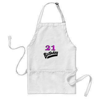 21st Birthday Pink And Black Aprons