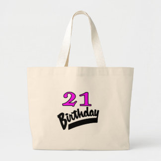 21st Birthday Pink And Black Bags