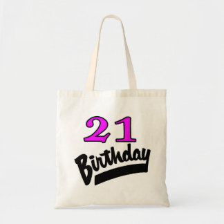 21st Birthday Pink And Black Bag