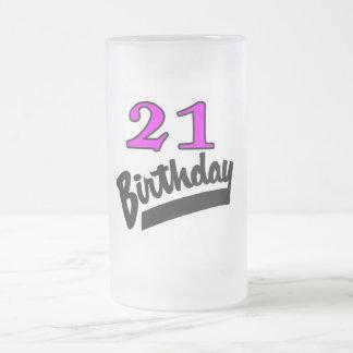 21st Birthday Pink And Black Coffee Mug