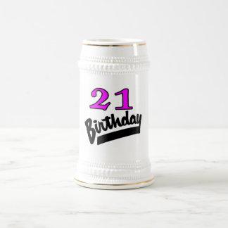21st Birthday Pink And Black Mug