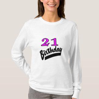 21st Birthday Pink And Black T-Shirt