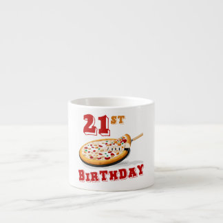 21st Birthday Pizza Party Espresso Cup