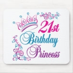 21st Birthday Princess Mouse Mat