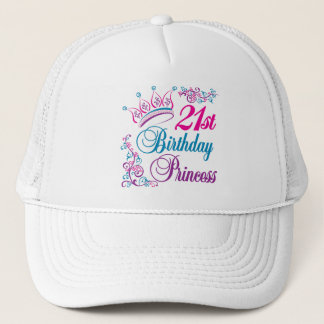 21st Birthday Princess Trucker Hat