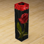 """""""21st Birthday"""" Red Roses Floral Photography Black Wine Box"""