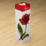 """""""21st Birthday"""" Red Roses Floral Photography Wine Box"""