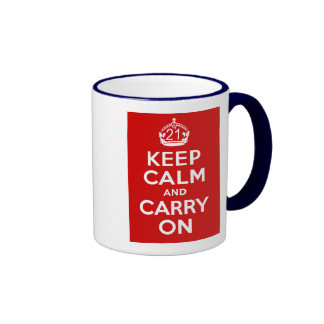 21st Birthday Ringer Coffee Mug