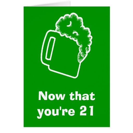 21st Birthday Rules Card