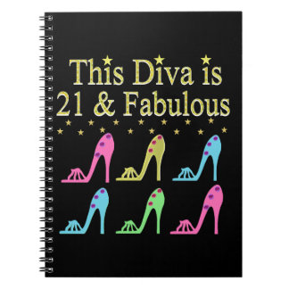 21ST BIRTHDAY SHOE QUEEN DESIGN NOTEBOOK